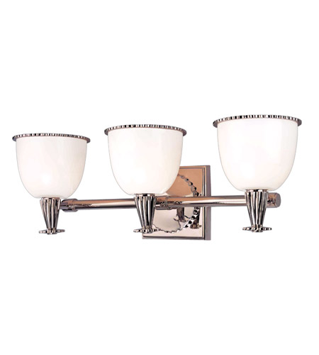 Hudson Valley Lighting Guilford 3 Light Bath And Vanity in Polished Nickel 3883-PN photo