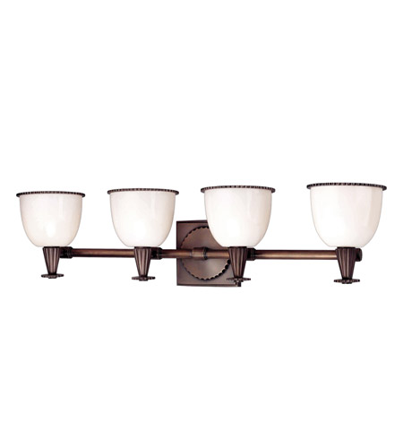 Hudson Valley Lighting Guilford 4 Light Bath And Vanity in Distressed Bronze 3884-DB photo