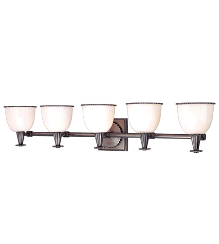 Hudson Valley Lighting Guilford 5 Light Bath And Vanity in Polished Nickel 3885-AN photo