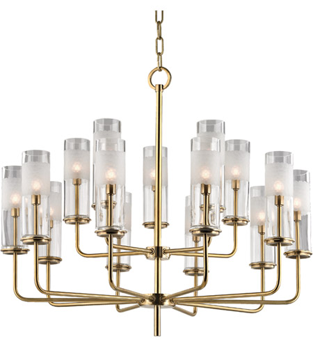 Hudson Valley 3930-AGB Wentworth 15 Light 31 inch Aged Brass Chandelier Ceiling Light photo