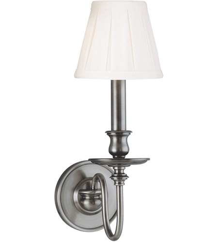 Hudson Valley Lighting Menlo Park 1 Light Wall Sconce in Antique Nickel 4021-AN photo