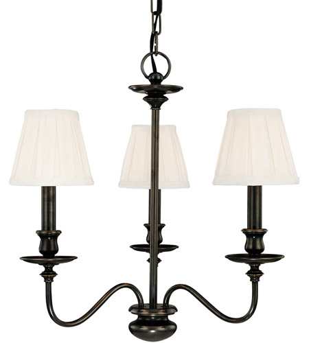 Hudson Valley 4033-OB Menlo Park 3 Light 20 inch Old Bronze Chandelier Ceiling Light photo