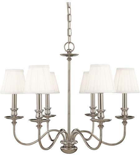 Hudson Valley Lighting Menlo Park 6 Light Chandelier in Polished Nickel 4036-PN photo