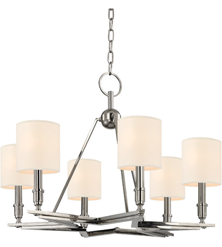 Hudson Valley Lighting Bethesda 6 Light Chandelier in Polished Nickel 4086-PN photo