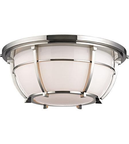 Hudson Valley 4115-PN Conrad 3 Light 16 inch Polished Nickel Flush Mount Ceiling Light photo