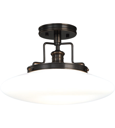 Hudson Valley Lighting Beacon 1 Light Semi Flush in Old Bronze 4205-OB photo