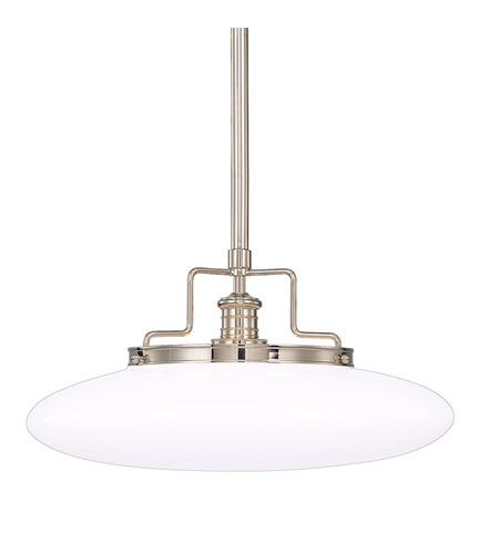 Hudson Valley 4228-PN Beacon 1 Light 18 inch Polished Nickel Pendant Ceiling Light photo