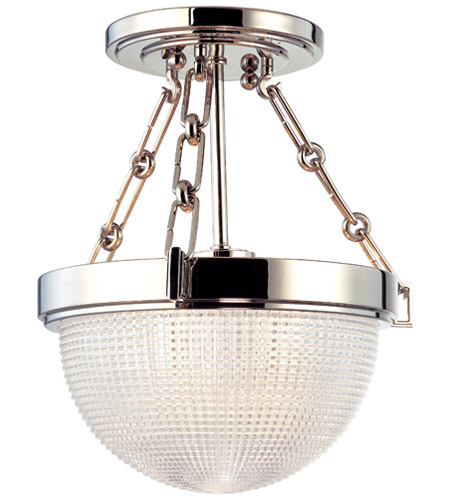 Hudson Valley 4409-PN Winfield 1 Light 11 inch Polished Nickel Semi Flush Ceiling Light  photo