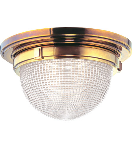 Hudson Valley 4412-AGB Winfield 1 Light 12 inch Aged Brass Flush Mount Ceiling Light photo