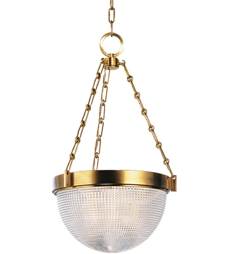 Hudson Valley Lighting Winfield 3 Light Pendant in Aged Brass 4416-AGB photo