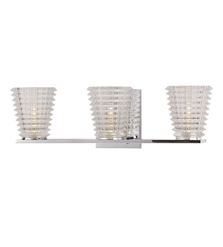 Hudson Valley 4473-PC Conway 3 Light 19 inch Polished Chrome Bath And Vanity Wall Light photo