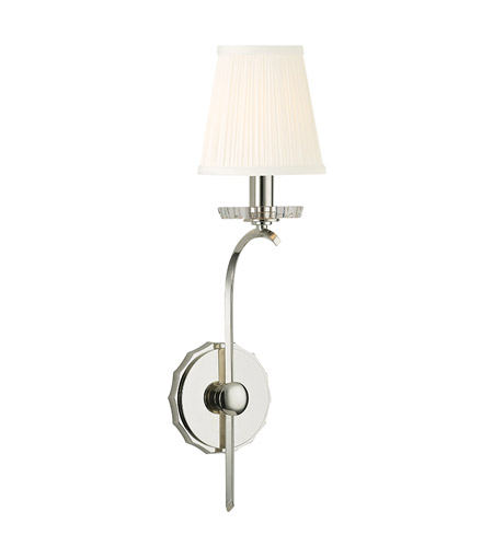 Hudson Valley 4481-PN Clyde 1 Light 5 inch Polished Nickel Wall Sconce Wall Light photo