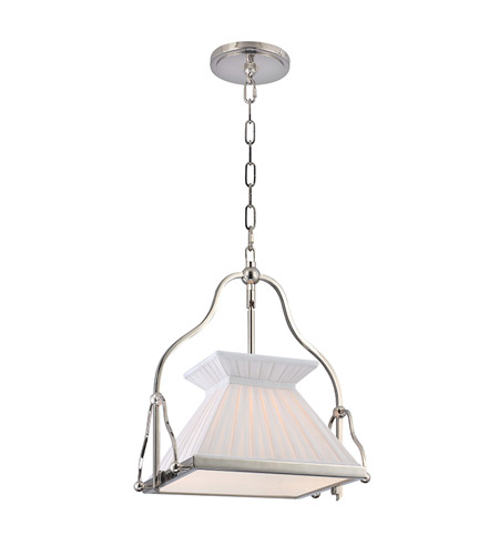 Hudson Valley Lighting Clifton 1 Light Pendant in Polished Nickel 4514-PN photo