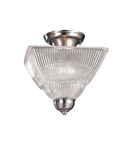 Hudson Valley 4532-SN Majestic Square 2 Light 10 inch Satin Nickel Semi Flush Ceiling Light photo