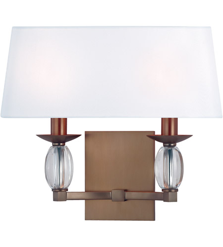 Hudson Valley Lighting Cameron 2 Light Wall Sconce in Brushed Bronze 4612-BB photo