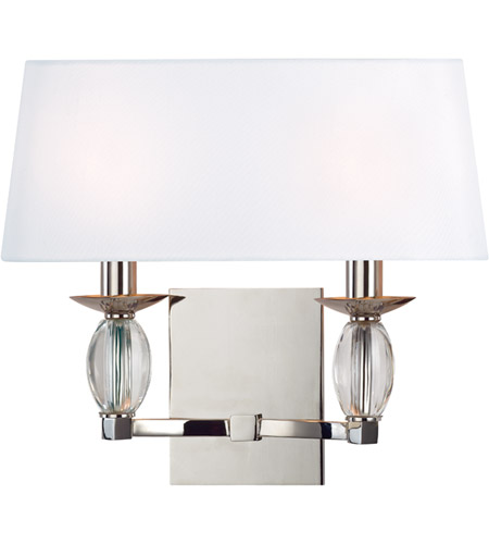 Hudson Valley 4612-PN Cameron 2 Light 14 inch Polished Nickel Wall Sconce Wall Light photo