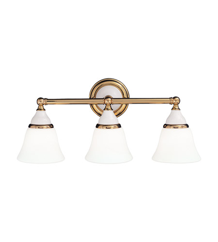 Hudson Valley 463-PB Porcelain 3 Light 23 inch Polished Brass Bath And Vanity Wall Light photo