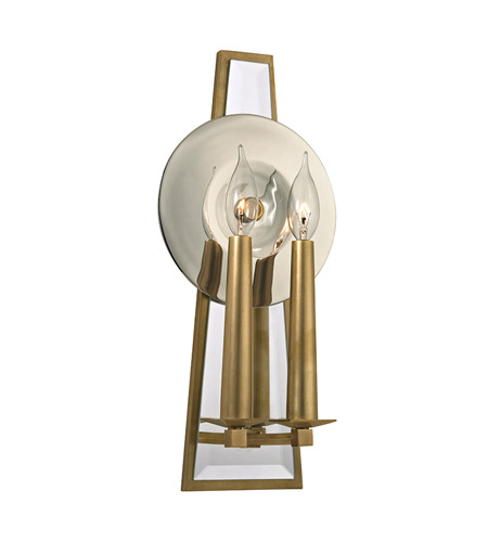 Hudson Valley Lighting Barker 2 Light Wall Sconce in Aged Brass 472-AGB photo
