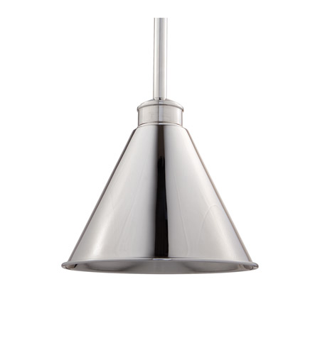 Hudson Valley Lighting Exeter 1 Light Pendant in Polished Nickel 4722-PN photo