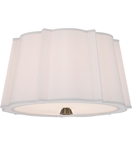 Hudson Valley 4817-AGB Humphrey 2 Light 17 inch Aged Brass Semi Flush Ceiling Light  photo