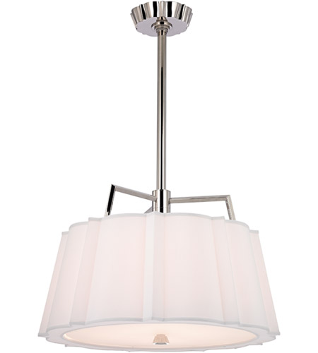 Hudson Valley 4824-PN Humphrey 4 Light 24 inch Polished Nickel Pendant Ceiling Light photo