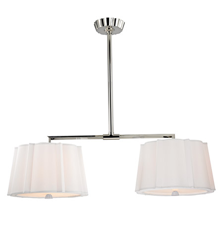 Hudson Valley 4844-PN Humphrey 4 Light 44 inch Polished Nickel Island Light Ceiling Light photo