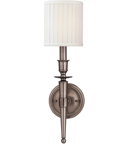 Hudson Valley 4901-AN Abington 1 Light 5 inch Antique Nickel Wall Sconce Wall Light photo