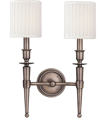 Hudson Valley Antique Nickel Wall Sconces