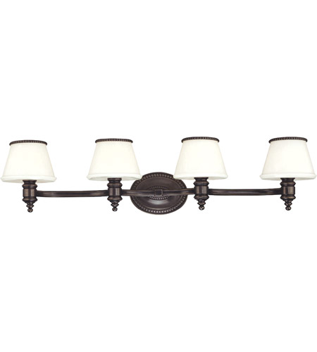 Hudson Valley 4944-OB Richmond 4 Light 32 inch Old Bronze Bath And Vanity Wall Light photo