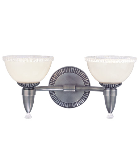 Hudson Valley Lighting Bloomfield 2 Light Bath And Vanity in Antique Nickel 4992-AN photo