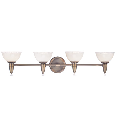 Hudson Valley Lighting Bloomfield 4 Light Bath And Vanity in Brushed Bronze 4994-BB photo