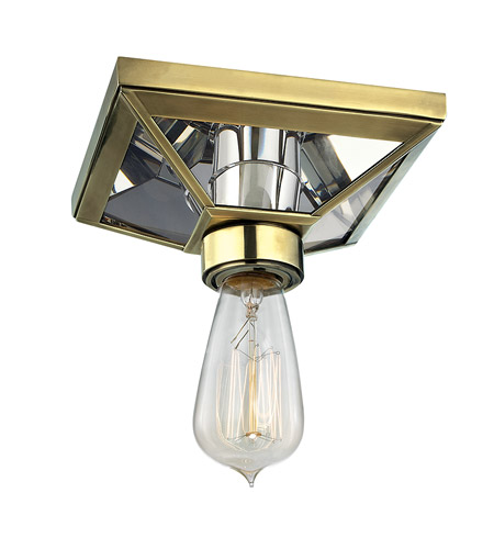 Hudson Valley Lighting Thurston 1 Light Semi Flush in Aged Brass 5080-AGB photo