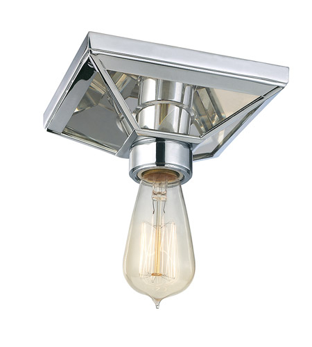 Hudson Valley 5080-PC Thurston 1 Light 6 inch Polished Chrome Semi Flush Ceiling Light photo