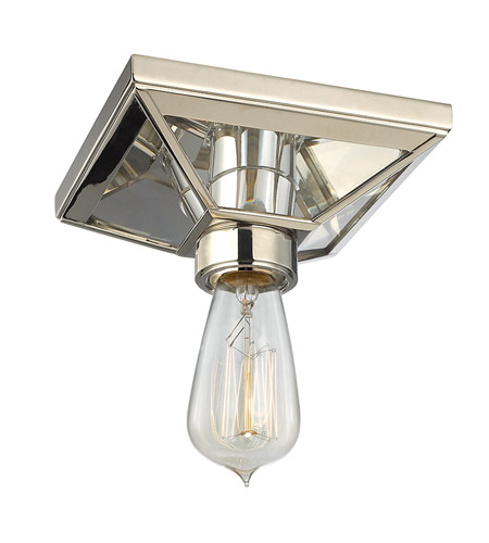 Hudson Valley 5080-PN Thurston 1 Light 6 inch Polished Nickel Semi Flush Ceiling Light photo