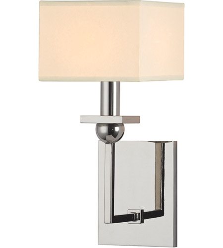 Hudson Valley Lighting Morris 1 Light Wall Sconce in Polished Nickel 5211-PN photo