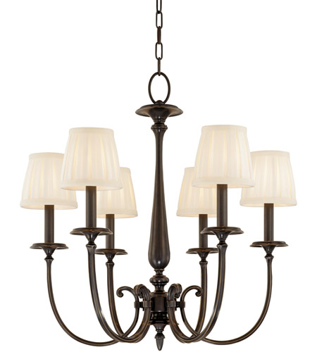 Hudson Valley 5216-OB Jefferson 6 Light 25 inch Old Bronze Chandelier Ceiling Light photo