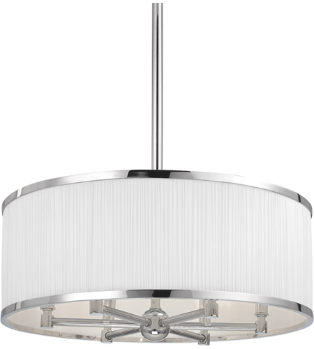 Hudson Valley 5224-PN Hastings 6 Light 24 inch Polished Nickel Chandelier Ceiling Light photo