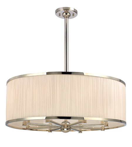 Hudson Valley Lighting Hastings 8 Light Chandelier in Polished Nickel 5230-PN photo