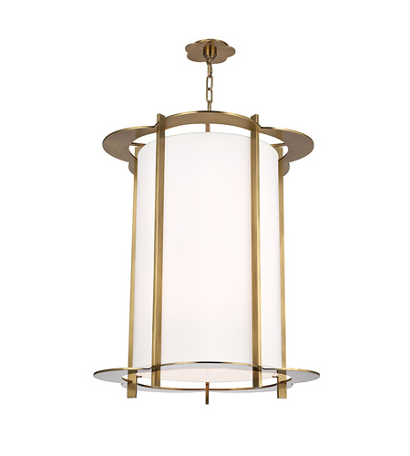 Hudson Valley 524-AGB Warwick 8 Light 24 inch Aged Brass Pendant Ceiling Light photo