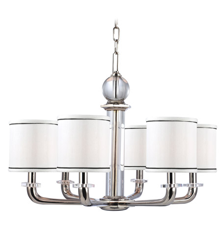 Hudson Valley Lighting Rock Hill 6 Light Chandelier in Polished Nickel 5326-PN photo