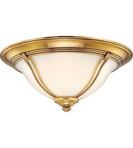 Hudson Valley Lighting Carrollton 3 Light Flush Mount in Flemish Brass 5417-FB photo