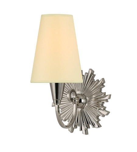 Hudson Valley Lighting Bleecker 1 Light Wall Sconce in Polished Nickel 5591-PN photo