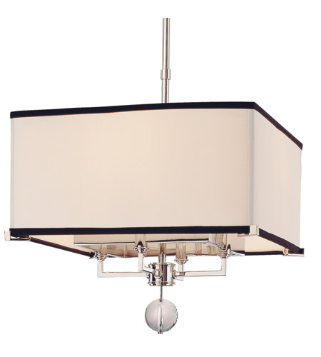 Hudson Valley 5644-PN Gresham Park 4 Light 14 inch Polished Nickel Pendant Ceiling Light photo