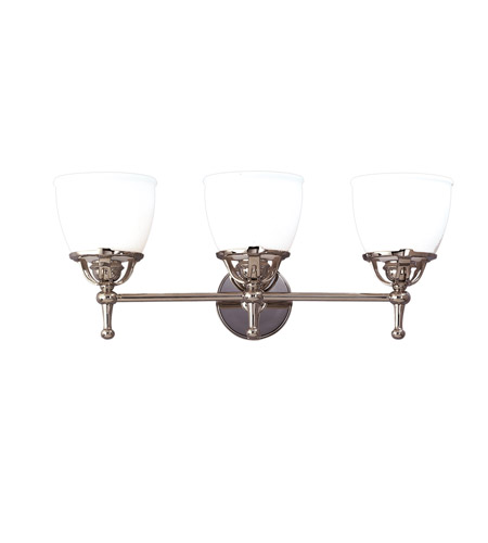 Hudson Valley Lighting Hamilton 3 Light Bath And Vanity in Polished Nickel 5803-PN photo