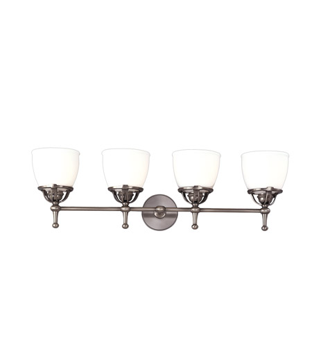 Hudson Valley Lighting Hamilton 4 Light Bath And Vanity in Antique Nickel 5804-AN photo