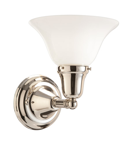 Hudson Valley 581-PN-415 Edison 1 Light 8 inch Polished Nickel Bath And Vanity Wall Light in 415 photo