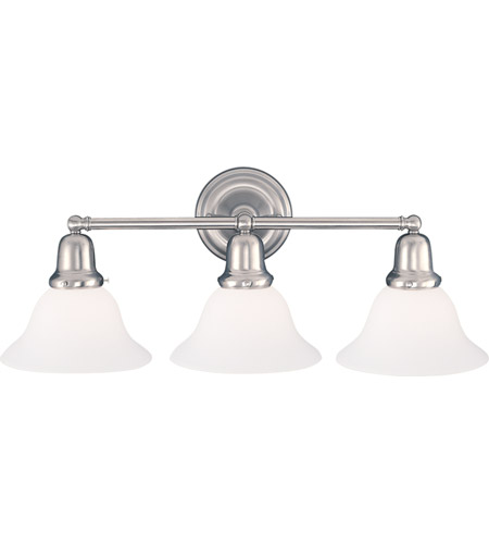 Hudson Valley 583-SN-415 Edison 3 Light 21 inch Satin Nickel Bath And Vanity Wall Light in 415 photo