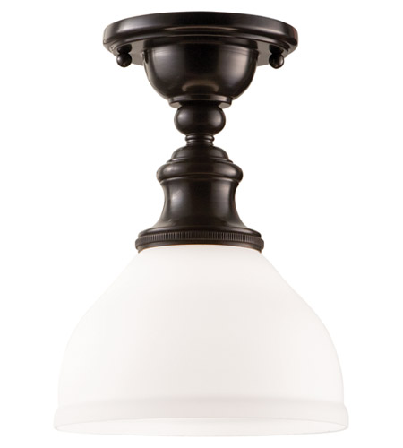 Hudson Valley Lighting Sutton 1 Light Semi Flush in Old Bronze 5911F-OB photo