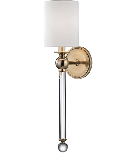 Hudson Valley 6031-AGB Gordon 1 Light 5 inch Aged Brass Wall Sconce Wall Light photo