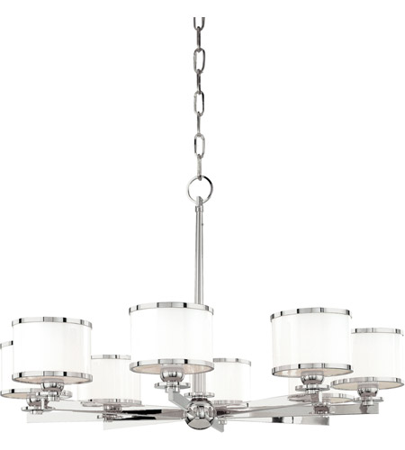 Hudson Valley 6118-PN Basking Ridge 8 Light 31 inch Polished Nickel Chandelier Ceiling Light photo